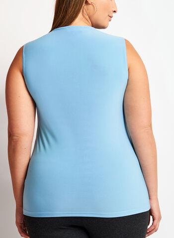 Haut sans manches à col rond, Bleu, hi-res