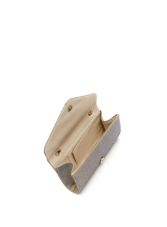 Glitter Envelope Clutch, Black, hi-res