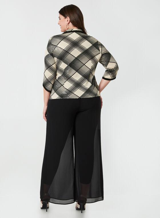 Joseph Ribkoff - Haut et veste à motif graphique, Noir, hi-res