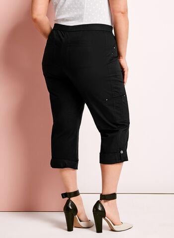 Pantalon capri cargo coupe moderne, Noir, hi-res