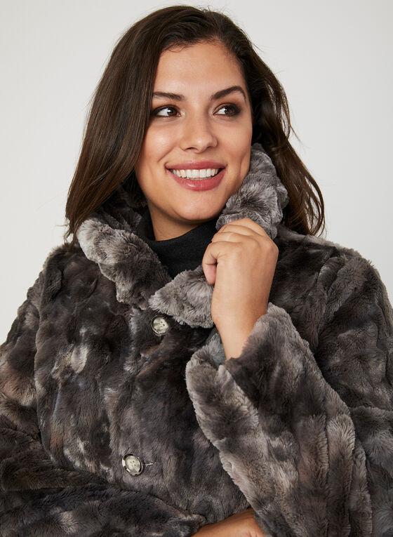 Manteau réversible en fausse fourrure, Blanc cassé, hi-res