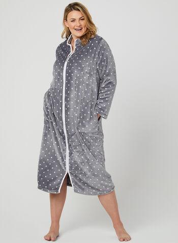 Claudel Lingerie - Fleece Nightgown, Grey, hi-res