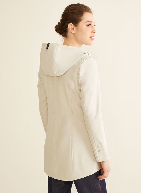Novelti - Manteau zippé à capuchon, Blanc cassé