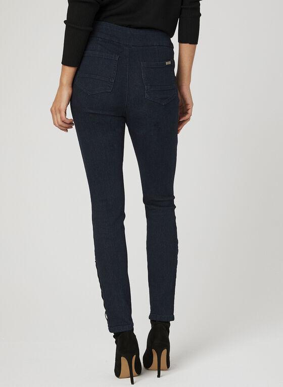 GG Jeans - Modern Fit Eyelet Detail Jeans, Blue, hi-res