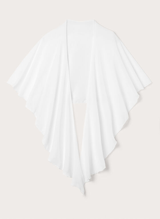 Lightweight Chiffon Shawl, Off White