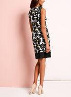 Daisy Print Sleeveless Shift Dress, Black, hi-res