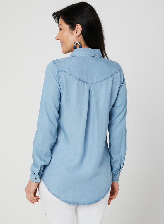 GG Jeans - Tencel Blouse, Blue, hi-res