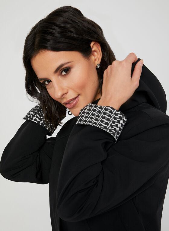 Manteau imperméable à capuchon amovible, Noir
