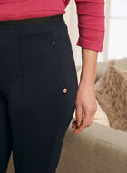 Pintuck Detail Pull-On Pants, Blue