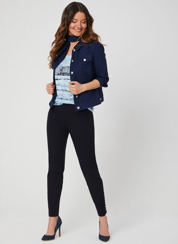 Watercolour Burnout T-Shirt, Blue, hi-res,  aztec, tie dye, summer 2019, short sleeves