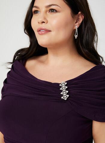 Empire Waist Jersey Dress, Purple, hi-res