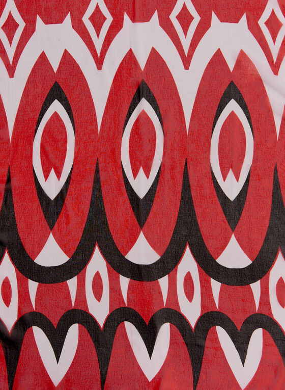 Foulard léger au motif abstrait, Rouge, hi-res