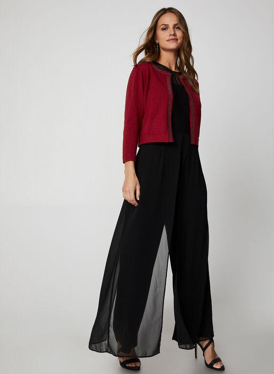 Nina Leonard - Stud Embellished Bolero, Red
