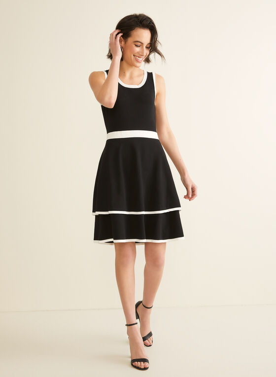 Nina Leonard - Sleeveless Knit Dress, Black