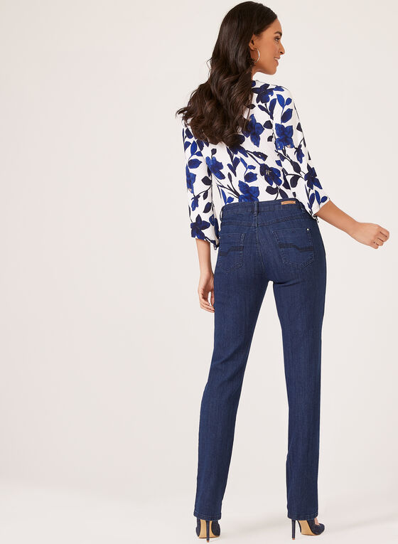 Simon Chang – Signature Straight Leg Jeans, Blue, hi-res