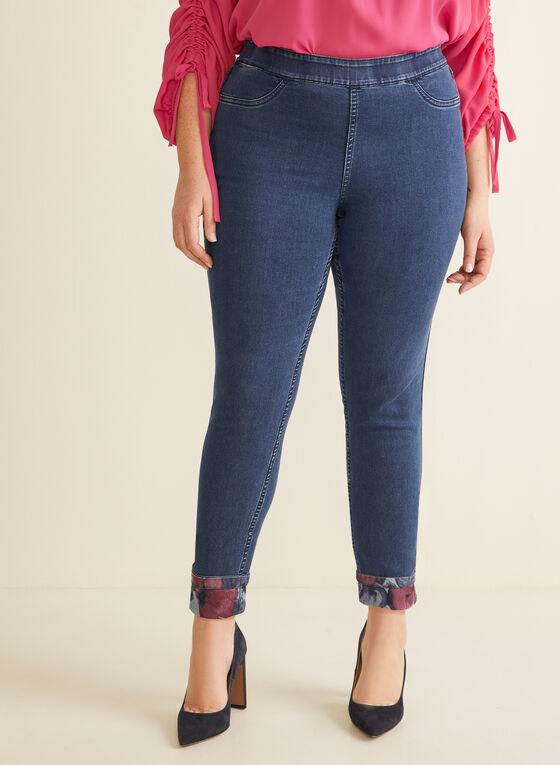 Joseph Ribkoff - Reversible Denim Jeans, Blue