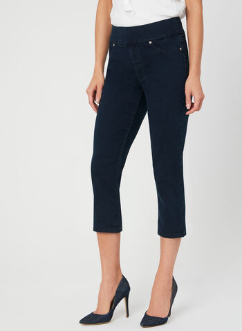 Carreli - Pull On Capris, Blue, hi-res,  Spring 2019, stretchy denim, slim leg, pull-on