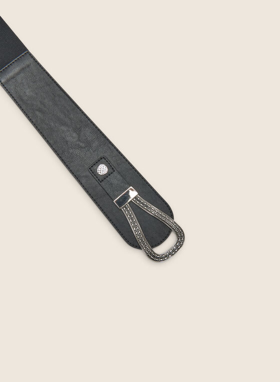 Wide Elastic Belt, Black