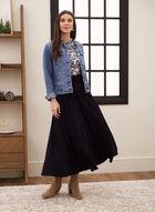 Pull-On Maxi Skirt, Blue