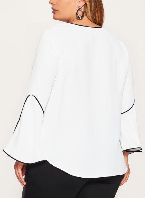 Frank Lyman - Bell Sleeve Blouse , Off White, hi-res