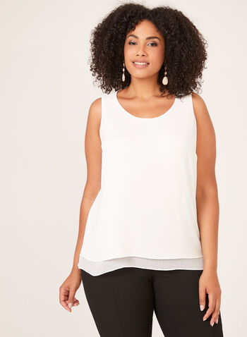 Bubble Crepe Camisole, Off White, hi-res