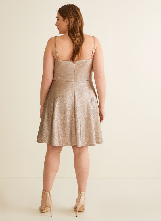 Sleeveless Metallic Dress, Gold