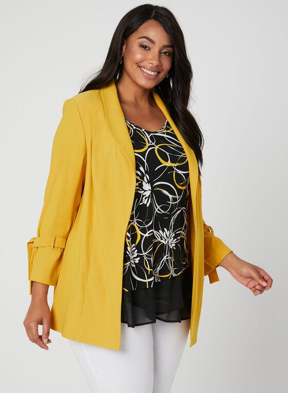 ¾ Sleeve Tie Detail Jacket, Yellow