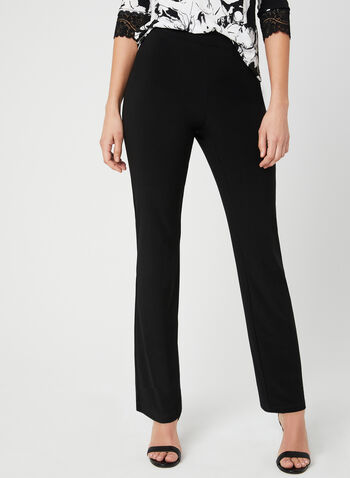 Modern Fit Straight Leg Pants, Black, hi-res,  Spring 2019, pull-on, Modern fit, straight leg
