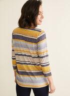 Embellished Stripe Print Tee, Multi