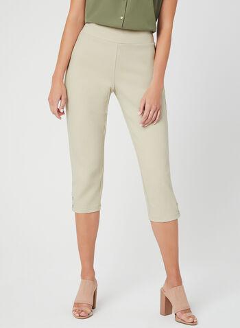 Pull-On Capri Pants, Off White, hi-res