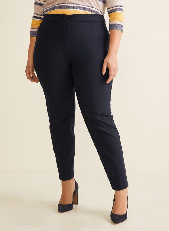 City Fit Straight Leg Pants, Blue