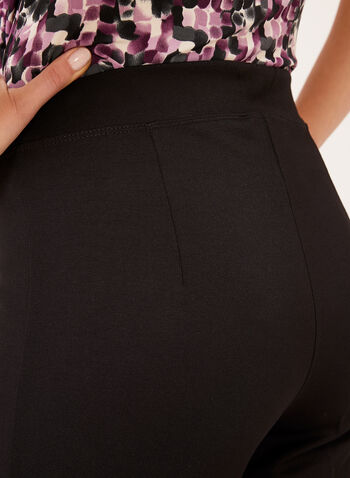 Linea Domani – Slit Seam Wide Leg Pull-On Pants, Black, hi-res