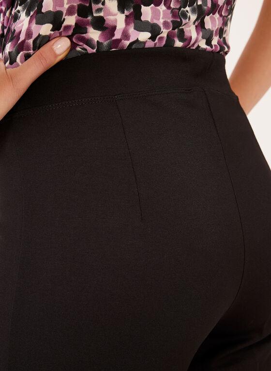 Linea Domani - Pantalon pull-on à jambe large fendue, Noir, hi-res