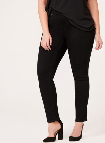 Modern Fit Slim Leg Jeans, Black, hi-res