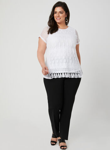 Linea Domani - Crochet Lace Top, White, hi-res