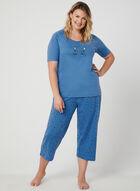 Bellina - Pyjama 2 pièces motif chat, Bleu, hi-res