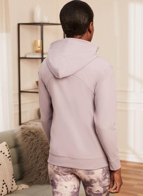 Zip Front Hooded Top, Purple
