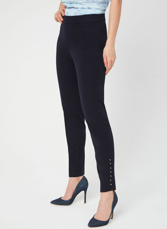 City Fit Slim Leg Pants, Blue