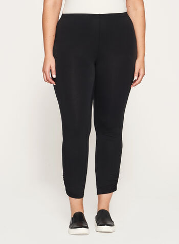 Ruched Ankle Leggings, , hi-res