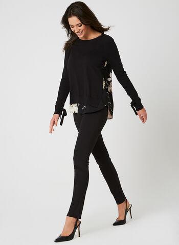 Modern Fit Jersey Pants, Black, hi-res