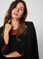 Tunique à détails animaliers en jersey, Noir, hi-res