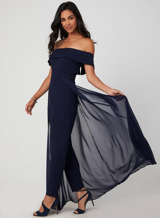 Marina - Off-the-Shoulder Jumpsuit, Blue