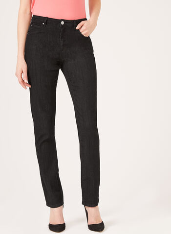 Simon Chang - Straight Leg Denim, Black, hi-res