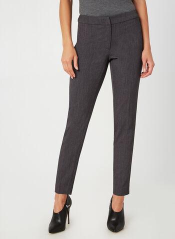 Modern Fit Slim Leg Pants, Grey,  fall winter 2019, slim leg, modern fit