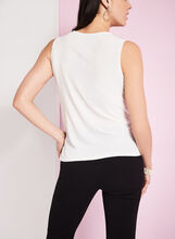 Scoop Neck Keyhole Top, Off White, hi-res