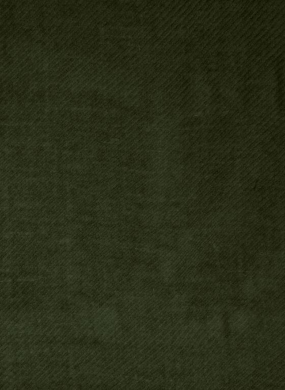 Fringed Twill Scarf, Green