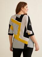 Haut à motif géométrique en jersey, Jaune