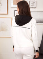 Hooded Colour Block Sweater, White