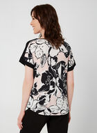Floral Print Top, White, hi-res