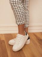 Checkered Print Pull-On Capris, White